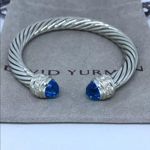 DAVID YURMAN 7mm BLUE TOPAZ DIAMONDS